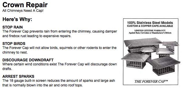 Chimney Caps and Crown Repair with Safeside Chimney