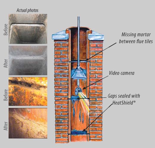 Heatshield-Chimney-joint-repair