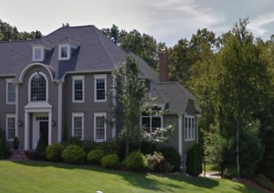 We did chimney sweeping in this canton home
