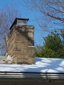 East Hartford porous masonry chimney